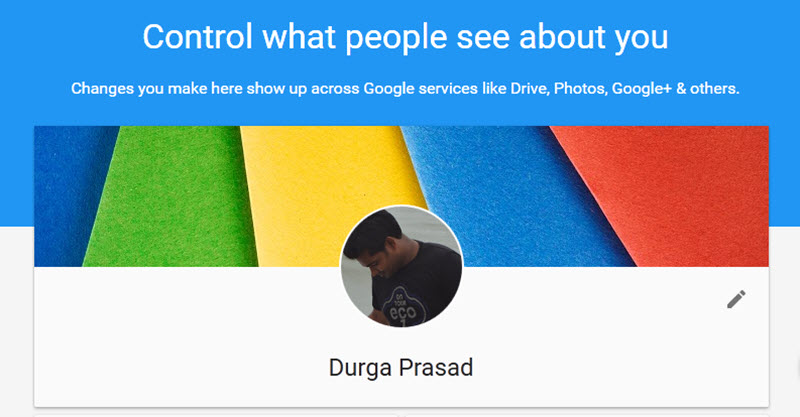 Google's About Me Tool
