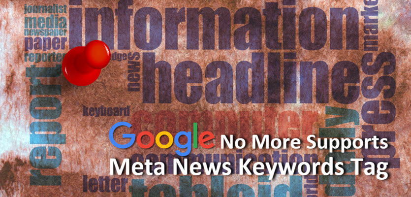 Google Not Supporting Meta News Keywords Tag