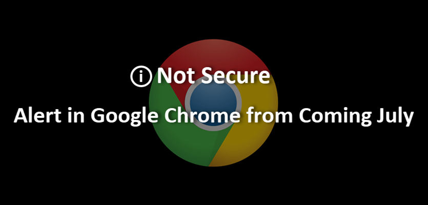 Not Secure Alert by Google