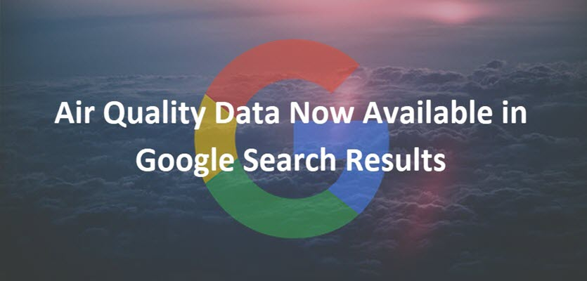 Air Quality Data in Search Results