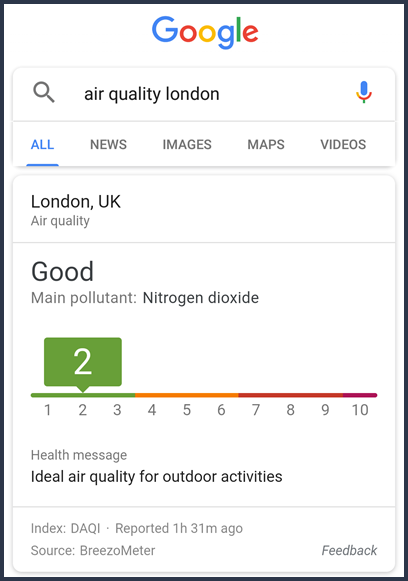 Air Quality London Mobile View
