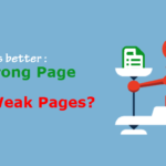 Which One Is Better: One Strong Page Or Many Weak Pages?