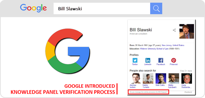 Google Knowledge Panel Verification