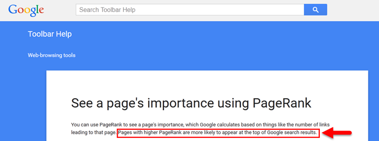 Google Toolbar Page Rank Help Page