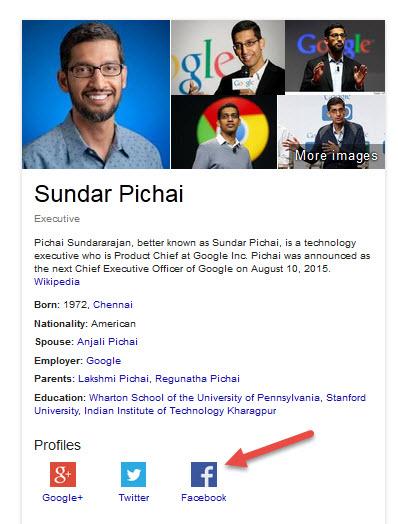 Weird Knowledge Graph & Answer Box Results for Sundar Pichai & Amit Singhal