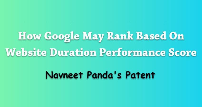 Website Duration Performance Score