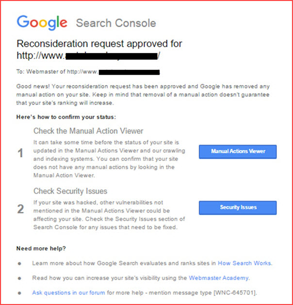 Spammy Structured Data Google Penalty Recovery