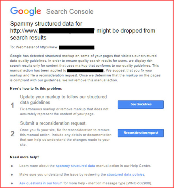 Spammy Structured Data Google Penalty