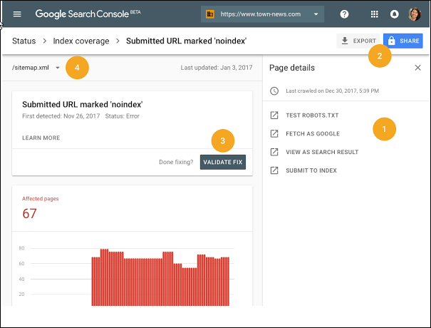 Index Coverage Search Console
