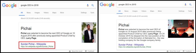 Google CEO 2016 & 2015