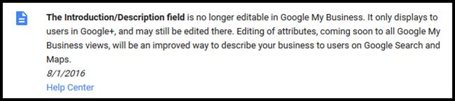 Google Removes Desc Field Edit Option