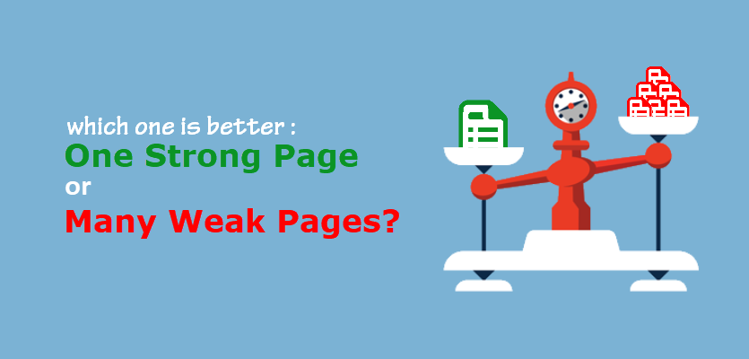 Strong Page Vs. Weak Pages
