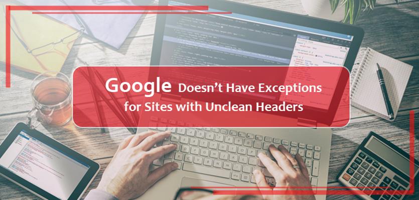 Unclean Website Headers Impact