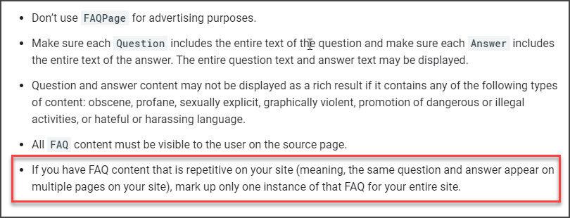Google FAQ Guideline Update