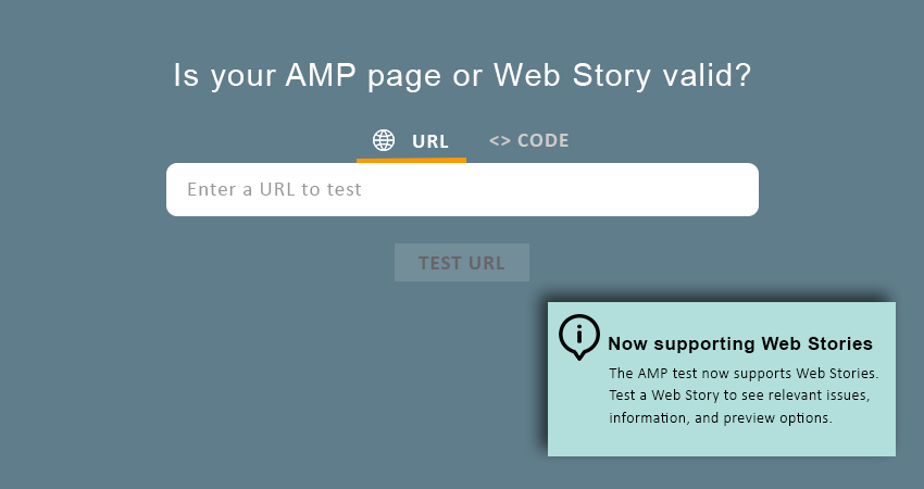 Google Web Stories Testing Tool