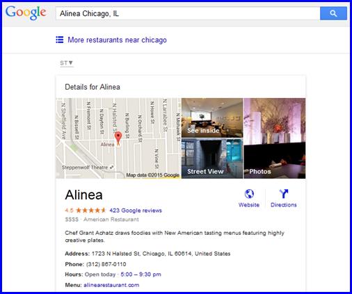 Alinea Chicago