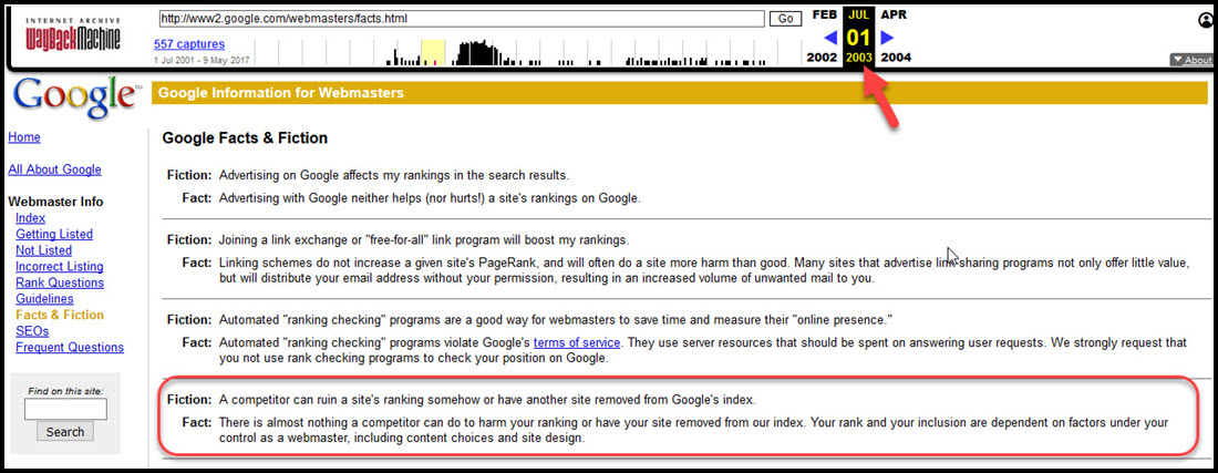 Google's 2003 Statement