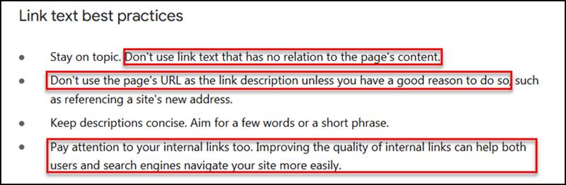 Link Text Best Practices